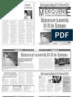 Versión impresa del periódico El mexiquense  3 junio 2013
