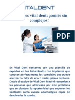 Implantes Vitaldent Madrid