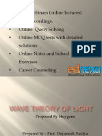 HSC - Physics - Wave Theory of Light