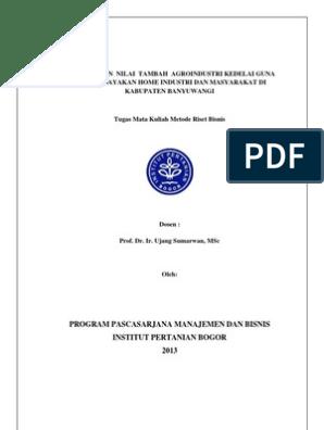 Contoh Proposal Penelitian Pertanian Agroteknologi Coretan