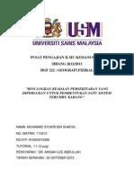 Assignment HGF222- BINCANGKAN KEADAAN PERSEKITARAN YANG DIPERLUKAN UNTUK PEMBENTUKAN SATU SISTEM TERUMBU KARANG