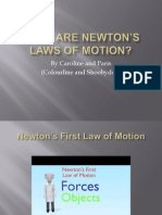 what are newtons laws of motion