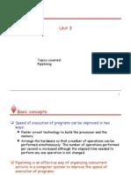 Coa Lecture Unit 3 Pipelining
