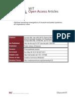Optimal Workloop Energetics of Muscle Actuated (1)