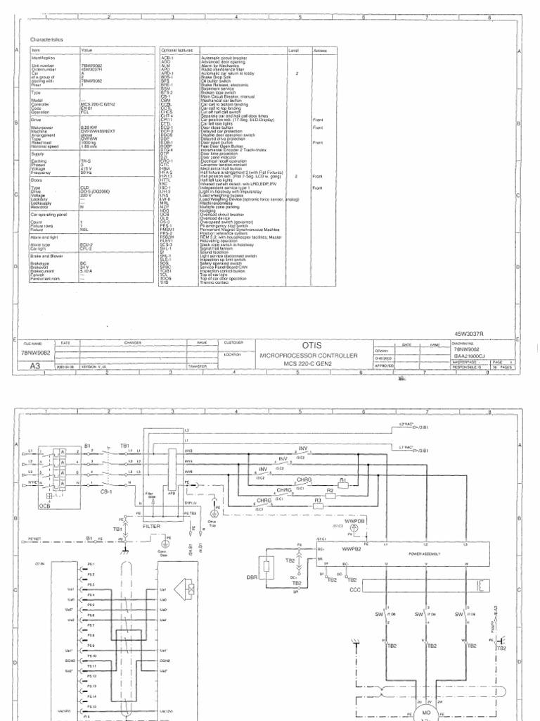 old otis elevator wiring diagram otis elevator company
