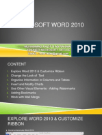 Microsoft Word 2010 Notes | Computer Keyboard | Microsoft Word