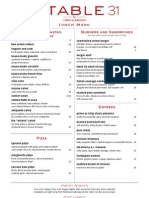 Table31 Menu