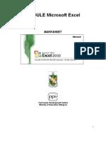 MODULE Excel Marksheet