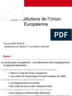 REY PANTZ Les Institutions de l'UE