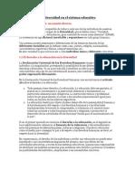 La Diversidad en El Sistema Educativo (Tema 1)