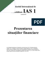 IAS Standardul International de Contabilitate IAS 1