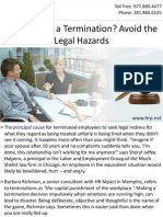 Anticipating a Termination? Avoid the Legal Hazards