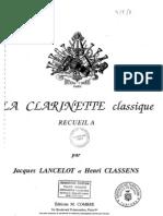 La Clarinette Classique (Piano 1)
