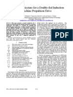 Control Architecture for a Doubly-fed Induction Machine Propulsion Drive
