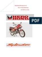 Hero Honda Project by Robin & Group.