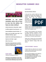 Newsletter Summer 2013 CALM