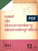 Caiet de Documentare Cinematografica 12 1964