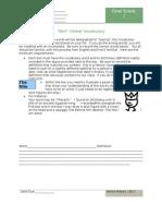 Online Extra Vocab Sheets