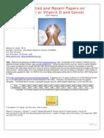Vitamin D cancer studies