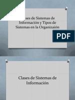 Clases de Sistemas de Información y Tipos de
