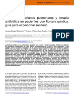 Agentes bacterianos pulmonares y terapia antibiótica en pacientes con fibrosis quística