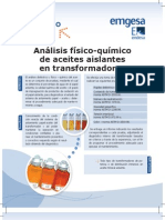 Análisis FisicoQuimico de aceites aislantes en trasnformadores