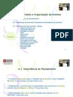 Planeamento e Organização de Eventos