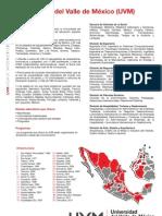 Hoja de Datos Institucional UVM 2013