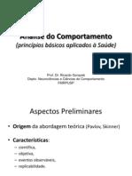 Prof. Ricardo - Aula Análise Comportamento
