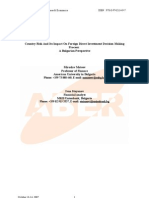 Country Risk And Its Impact On Foreign Direct Investment Decision Making Process