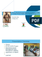 Using a Standards-based Approach to Improve Access to Quality Primary Health Care in Western Ghana
