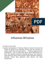 Influences Africaines - Dossier de présentation