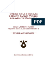 Bibliografia Rito Del Santo Sepulcro