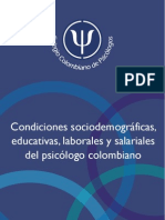 Condiciones Del Psicologo en Colombia