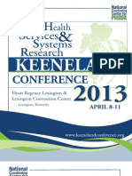 2013 PHSSR Keeneland Conference Full Program