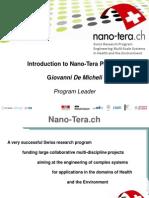 Introduction to Nano-Tera Phase 2