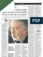 El Perú no tiene nada que perder con el fallo de la corte de La Haya