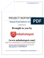 Project Report on MutualFundIndustry Mbahotspot.com