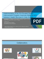 Implementation of an HIV-focused Quality Improvement Program Improves Maternal and Newborn Health Services in Cote d'Ivoire