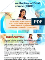 Premature Rupture of Fetal Membrane (PROM) referat pku.pptx