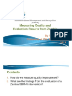 Measuring Quality and 