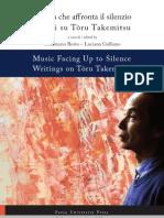 Music facing up to Silence writing on Toru Takemitsu