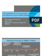 The expanding role of nurses globally in prevention and treatment of communicable diseases