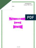 Politiques, Normes en Nutrition, Revues