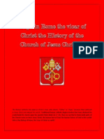 Pope in Rome the Vicar of Christ the History of the Church of Jesus Christ