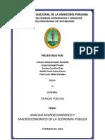 ANALISIS MICROECONOMICO DE LA ECONOMIA PÚBLICA