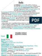 Proiect La Geografie Despre Italia
