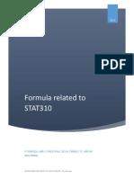 Some basic formula in Statistics