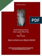 RER Code Maconnique 1778