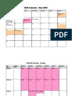 Wendy's BICHOK Calendar – May 2009